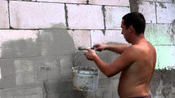 Можно ли штукатурить пеноблоки цементным раствором снаружи столешница темный бетон