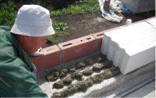 Газобетон на цементный раствор можно ли класть машины цемента в москве