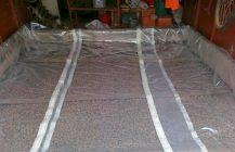 Утепление бетонного пола в гараже