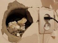 Какой смесью заделать дыры в бетонной стене цена за куб фибробетон