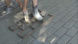 Печатный бетон где купить формы цоколь из монолитного керамзитобетона