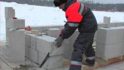 Можно ли класть газосиликатные блоки зимой