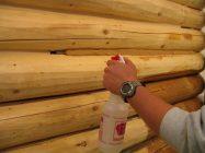 Заделка межвенцовых швов герметиком в деревянном доме