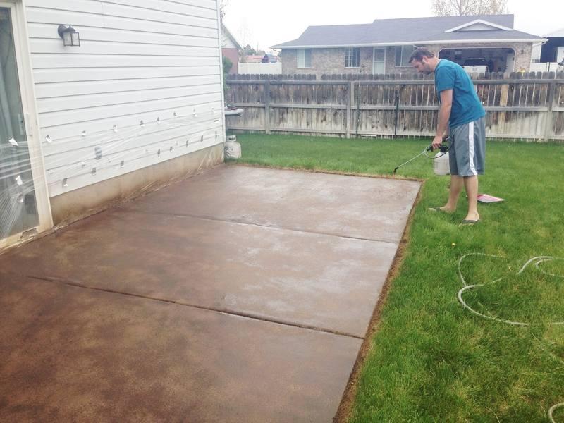 Покрасить по бетону пирог из керамзитобетона